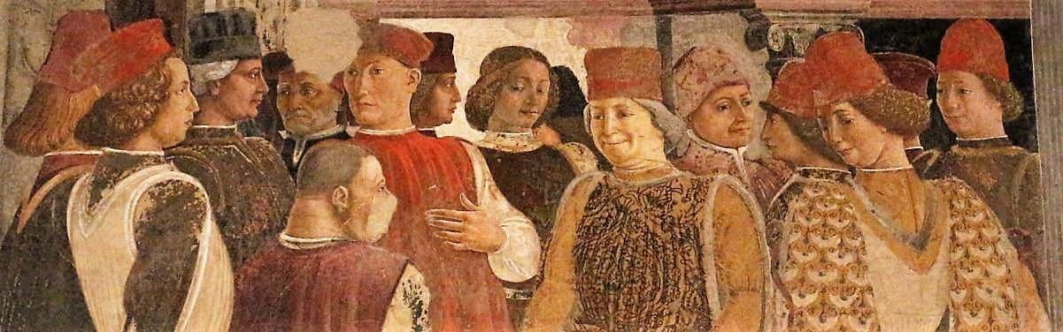 Palazzo Schifanoia particulier des fresques, palais de la Renaissance, Ferrare au Moyen Âge