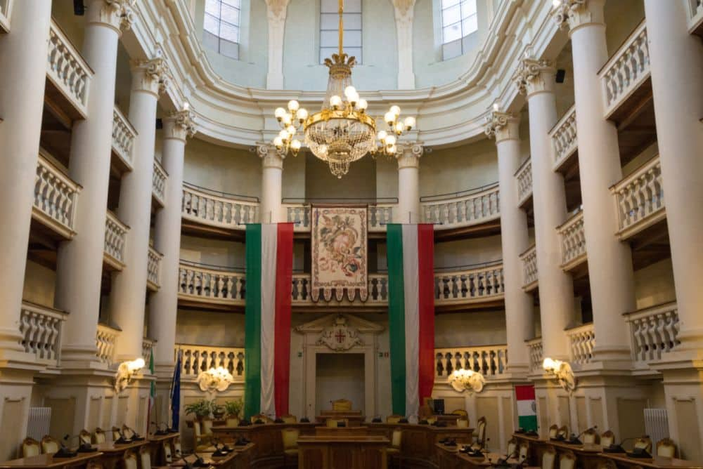 Reggio Emilia Italian flag room guided day excursion, Emilia Romagna , Italy