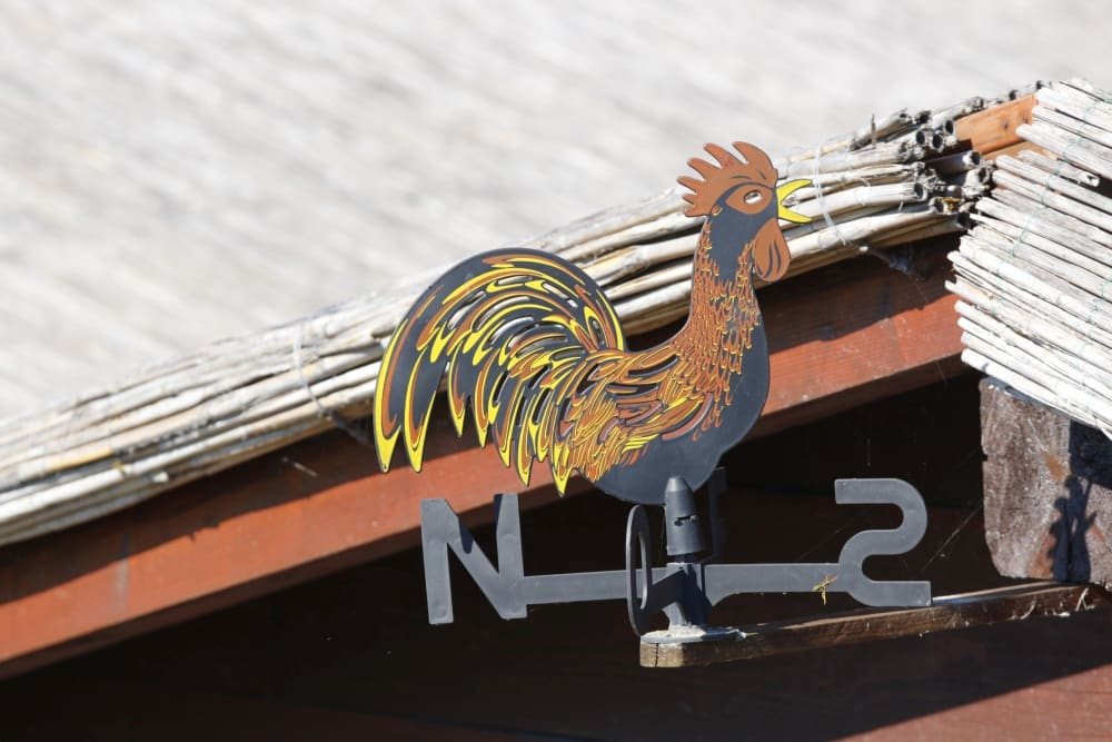 Rooster weathervane metalworking craft veneto region