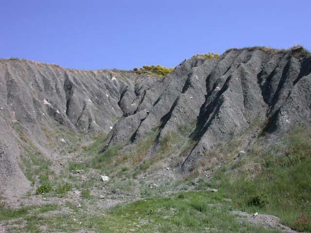 Les calanques, crête des Apennins, Émilie-Romagne, Italie du Nord