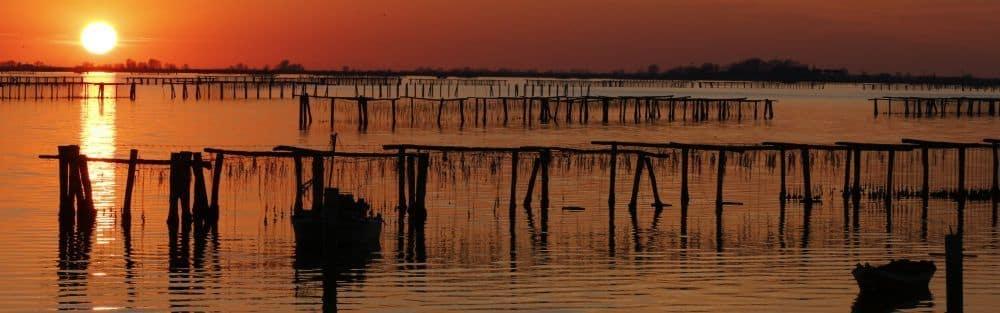 Delta du Pô Italie du Nord, dans les régions d'Émilie-Romagne et de la Vénétie. Entre la mer Adriatique et la vallée du Pô, un patrimoine mondial de l'Unesco