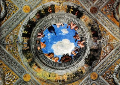 Di sotto in sù ceiling panel, Camera picta, Mantua