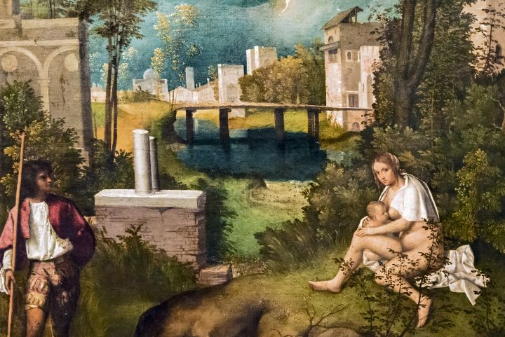 Giorgione, The Tempest, Gallerie Accademia Venice, Venetian artists Veneto region
