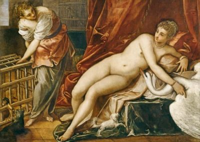 Leda and the Swan by Jacopo Tintoretto, Uffizi, Florence
