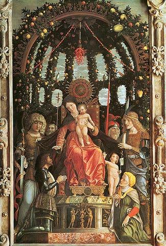 Madonna della Vittoria, Louvre Museum, Paris by Andrea Mantegna