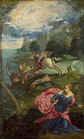 Saint George and the Dragon by Tintoretto, National Gallery, London
