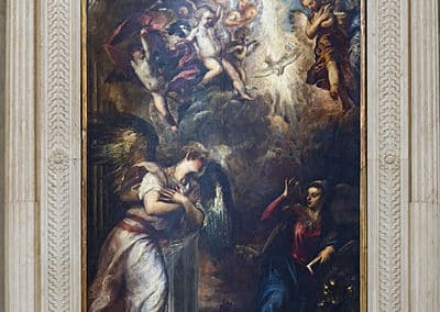 The Annunciation, painting by the Italian Renaissance master Titian. It remains in the church of San Salvador in Venice
