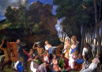 Feast of the Gods, National Gallery of Art in Washington D.C., one of the greatest Renaissance paintings in the United States, by the Italian Renaissance master Giovanni Bellini