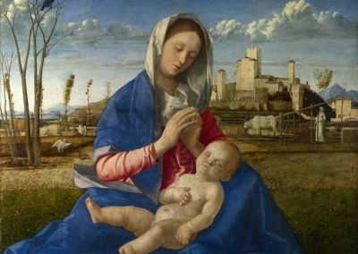 Madonna del Prato (Madonna of the Meadow), painting of the Virgin Mary and the Christ Child by Giovanni Bellini, National Gallery London