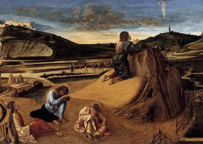 The Agony in the Garden, National Gallery London. an early painting by the Italian Renaissance master Giovanni Bellini, Venetian painter