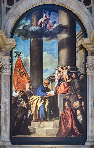 Pesaro Madonna, painting by the Italian Renaissance master Titian in the Frari Basilica in Venice