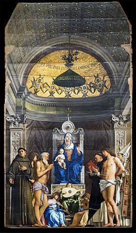 San Giobbe Altarpiece, Gallerie dell'Accademia in Venice. painting by the Italian Renaissance master Giovanni Bellini.