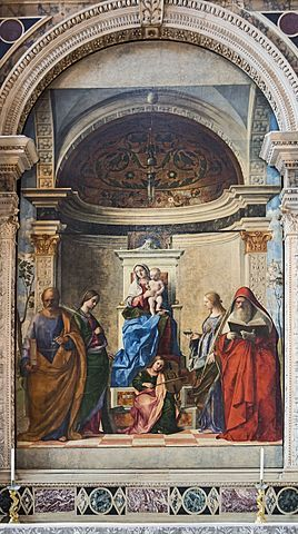 San Zaccaria Altarpiece, painting by the Italian Renaissance painter Giovanni Bellini, located in the church of San Zaccaria, Venice. It was commissioned in memory of the Venetian politician and diplomat Pietro Cappello