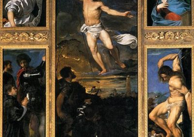 Averoldi Polyptych is a painting by the Italian late Renaissance painter Titian in the basilica church of Santi Nazaro e Celso in Brescia, northern Italy