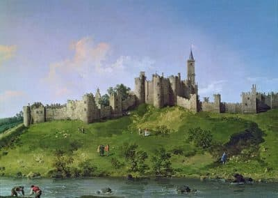 Alnwick Castle, Private collection, oil on canvas