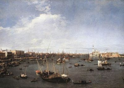 Bacino di San Marco, Boston Fine Arts museum, oil on canvas, by the city views painter Giovanni Antonio Canal known as Canaletto, venetian artist of the eighteenth century