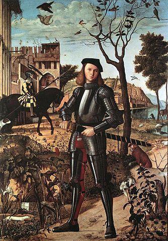 Portrait d'un chevalier, museo Thyssen-Bornemisza Madrid, Tempera sur toile de l'artiste vénitien Vittore Carpaccio, Renaissance italienne