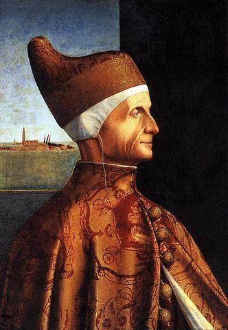 Portrait du doge Leonardo Loredan, Académie Carrara, Bergame. Huile sur panneau du peintre vénitien Vittore Carpaccio