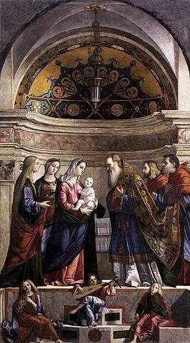 Présentation de Jésus au Temple par l'artiste vénitien Vittore Carpaccio, tempera sur panneau abrité à la Gallerie dell'Accademia de Venise