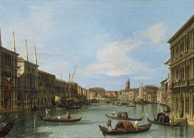 Le Grand Canal, vue du palais Vendramin Calergi, Royal Collection Trust, de Canaletto, artiste vénitien du védutisme