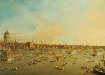 River Thames with St Paul's Cathedral, Lord Mayor's Day
