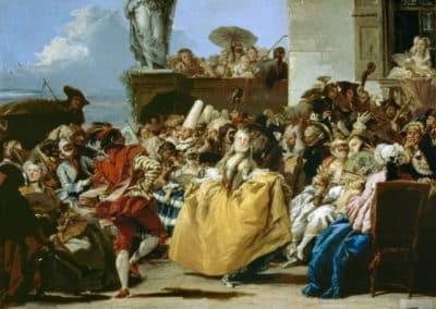 Scène de carnaval, Menuet, 1754, musée du Louvre, Paris