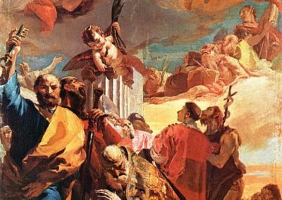 Vierge dans sa gloire, Rovetta, église Toussaints