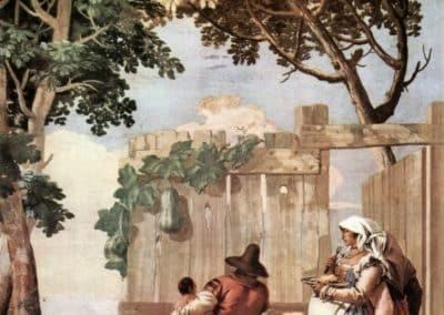 Peasant Family at Table, from the Room of Rustic Scenes, in the Foresteria (Guesthouse), 1757, Villa Valmarana ai Nani, Vicenza