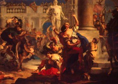 L'enlèvement des Sabines, Saint-Pétersbourg, Musée de l'Ermitage