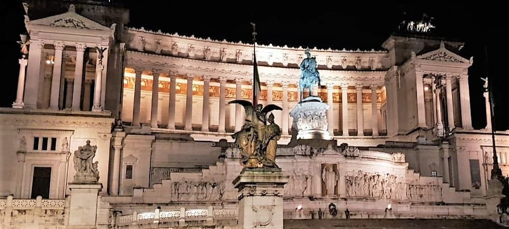 Altar of the Fatherland, Rome capital of Italy. monument built in honor of Victor Emmanuel II, the first king of a unified Italy