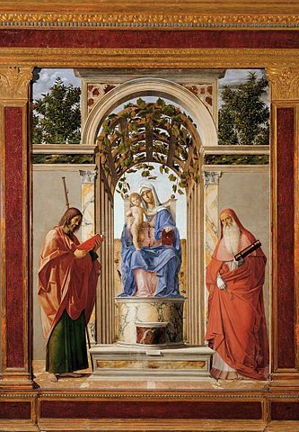 Madonna and Child with Saints James the Greater and Jerome