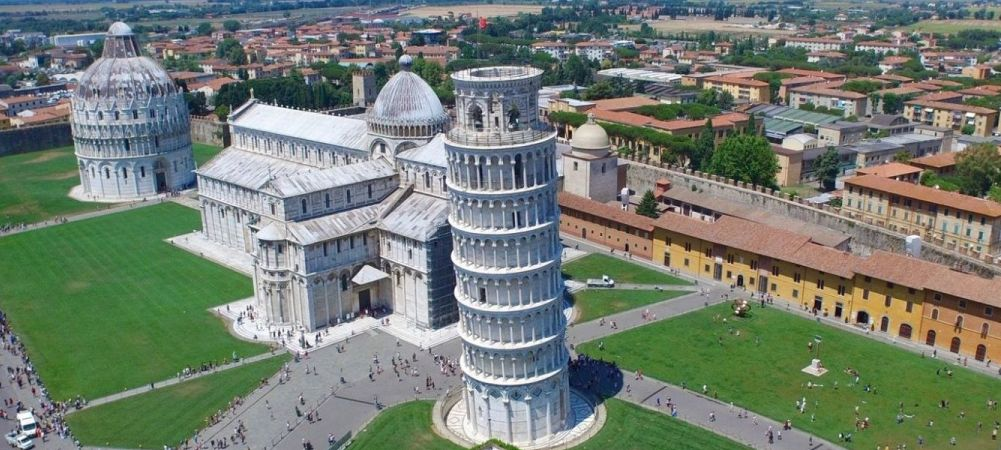 Pisa Cathedral Square, important centre of European medieval art and one of the finest architectural complexes in the world