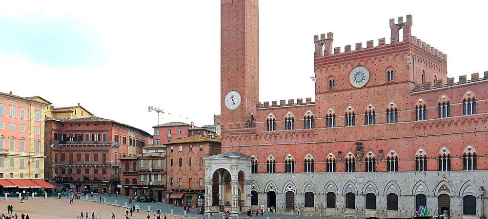 Sienne Piazza del Campo, Toscane, circuit privé à pied avec un guide local
