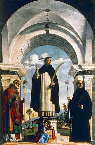 St Peter Martyr with St Nicholas, St Benedict and an Angel