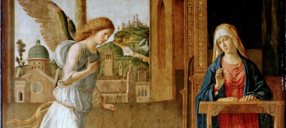 The Annunciation (1495) - Detail, Cima da Conegliano, Hermitage Museum, San Pietroburgo, Saint Petersburg