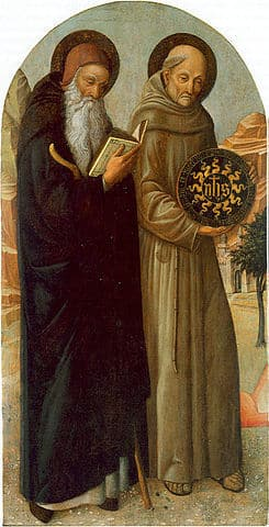 St Anthony Abbot and St Bernardino da Siena