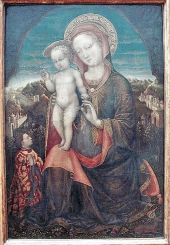 The Madonna of Humility adored by Leonello d'Este, Louvre, Paris, France