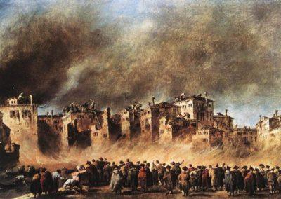 Fire in the Oil Depot at San Marcuola, Francesco Guardi, Alte Pinakothek, Munich, Germany