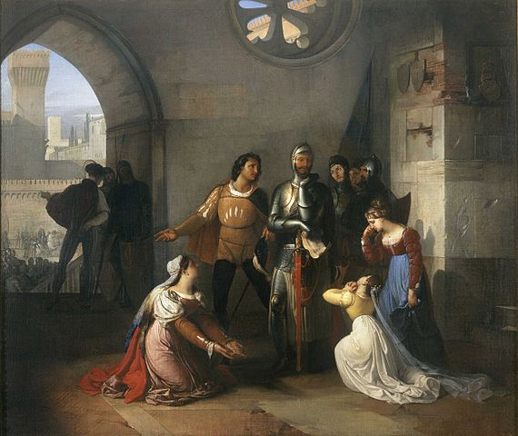 Francesco Hayez, Pietro Rossi as a Prisoner Of The Scaligers, San Fiorano Collection, Milan