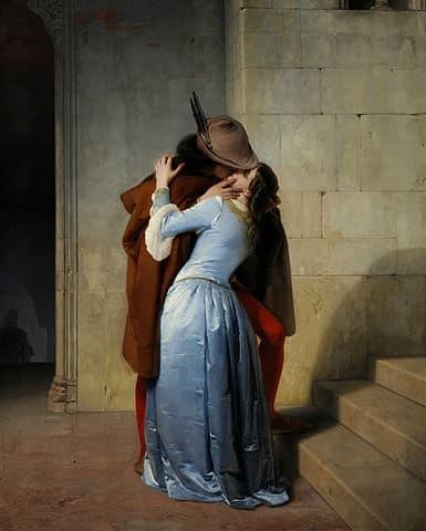 Francesco Hayez, The Kiss, Milan, Pinacoteca di Brera
