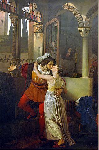 Francesco Hayez, The last kiss of Romeo and Juliet, Tremezzo, Villa Carlotta