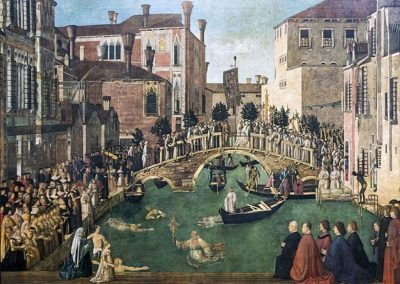 Gentile Bellini, Miracle of the Cross at the Bridge of S. Lorenzo, c. 1500, Gallerie dell'Accademia, Venice