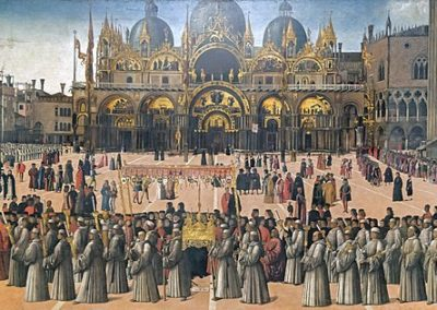 Gentile Bellini, Procession in St. Mark's Square, c. 1496, Gallerie dell'Accademia, Venice