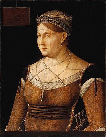 Gentile Bellini, Queen Caterina Cornaro, c. 1500; Szépmüvészeti Múzeum, Budapest
