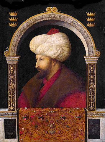 Gentile Bellini, Sultan Mehmed II, 1480, oil on canvas, National Gallery, London