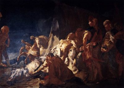 Giovanni Battista Piazzetta, La mort de Darius, Ca' Rezzonico, Venise