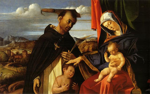 Lorenzo Lotto, Madonna with Child, St Peter of Verona and Donor, National Museum of Capodimonte, Naples
