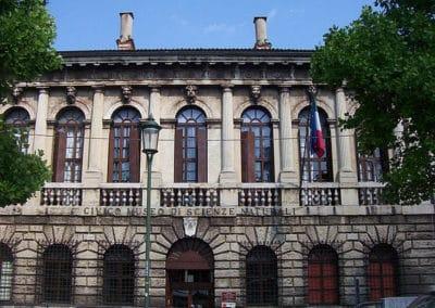 Facade of Palazzo Pompei in Verona