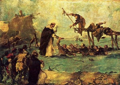 Miracle rescue by a Dominican saint