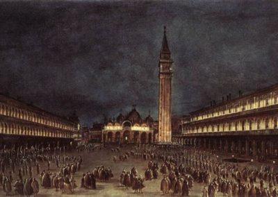 Nighttime Procession in Piazza San Marco, Francesco Guardi, Ashmolean Museum, Oxford, UK